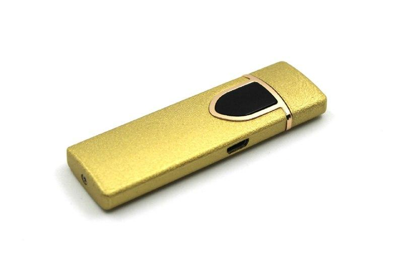 Электроимпульсная usb-зажигалка 717 Gold (200758)