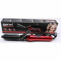 Плойка для волос GEMEI GM-2906 с насадкой-щеткой и керамическим покрытием пластин