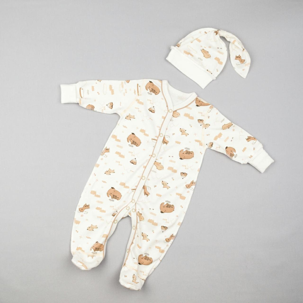 Человечек + шапочка для новорожденных