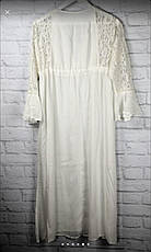 Плаття для пляжу довге з гіпюром колір молоко, фото 3