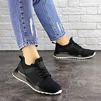 Красивые Женские кроссовки 39 размер Черные 25 см