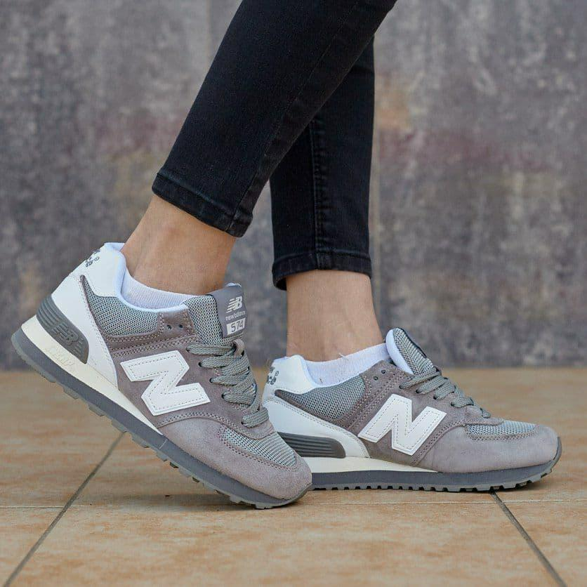 Кросівки жіночі New New Balance 574 grey репліка (хутро)0075