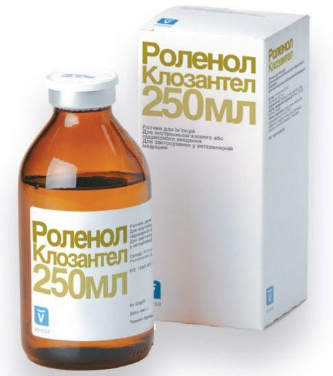 РОЛЕНОЛ противопаразитарный препарат широкого спектра действия, 250 мл