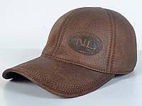 Мужская модная Кожанная теплая кепка на флисе с ушками - NL (цвет кофе)