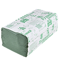 Бумажное полотенце Зеленое 24*23см 160шт 25шт/ящ, фото 1