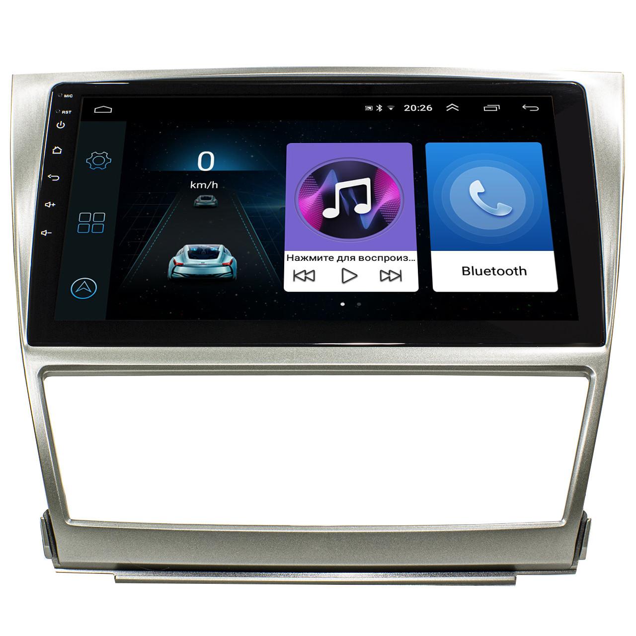 Штатна автомобільна магнітола 10 дюймів Toyota Camry V40 2006-2011 сенсорний екран 4 ядра Bluetooth WiFi
