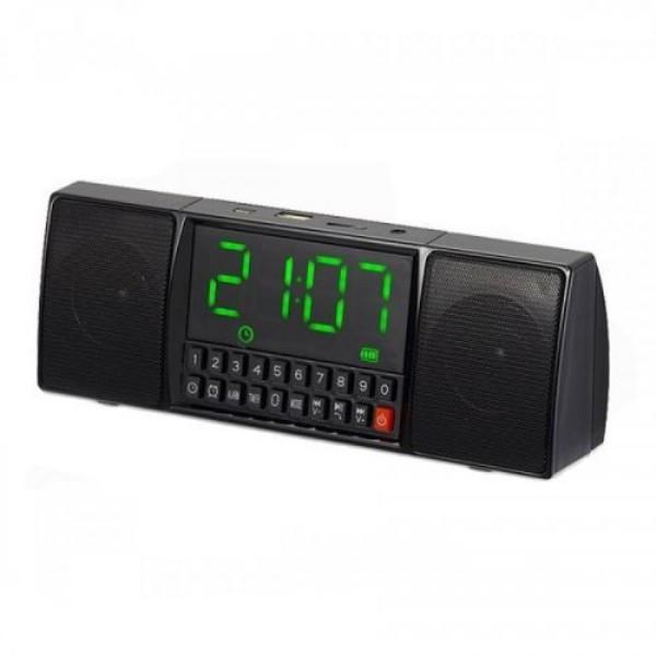 Портативна колонка MP3 годинник WS-1515 bluetooth Чорний (200479)