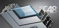 Алюминиевые двери Alutech C48