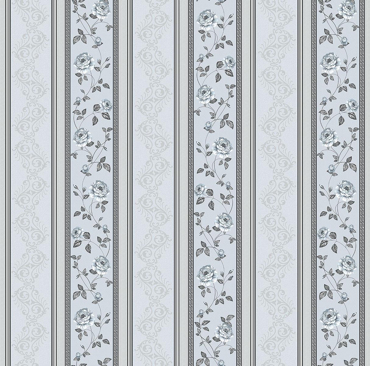 Обои Континент бумажные дуплекс Вальс серый с серебром  057