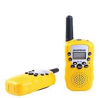 Рация Baofeng MiNi BF-T3 PMR446 2 штуки->Желтые. Радиус до 3км, фото 1