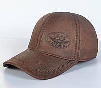 Мужская модная Кожанная теплая кепка на флисе с ушками - Since 1973 (кофе)
