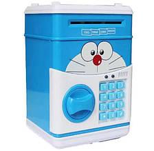 Электронный сейф-копилка с кодовым замком Cat Голубой (101039)