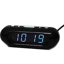 Настільний електронний годинник VST-716 Чорний (200659)