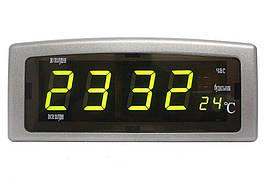 Настільні електронні годинники Caixing Сріблястий (CX-818)