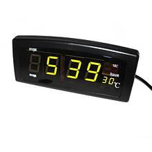 Настільні електронні годинники Caixing Чорний (CX-818-1)
