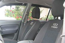 Чехлы в салон для Chery QQ 2003- модельные Prestige бюджет (комплект) Темно-серые