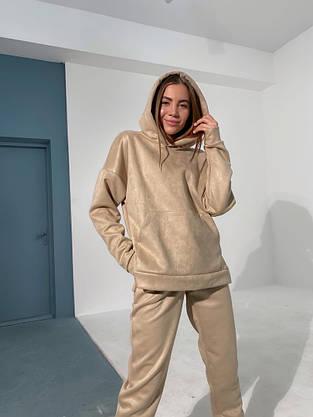 Замшевый женский спортивный костюм, фото 2