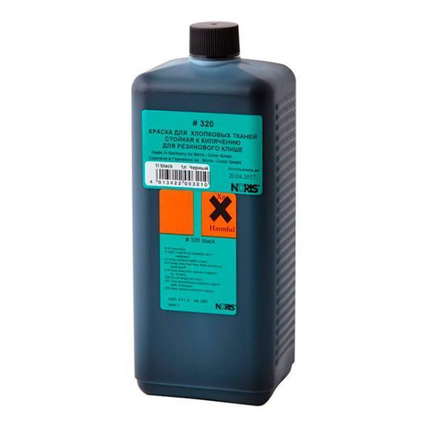 Штемпельная краска для ткани на спиртовой основе 1,0 л (белая), Noris 325 EW 1,0