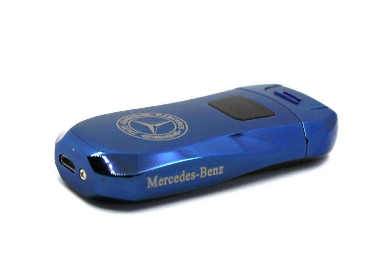 Електроімпульсна USB запальничка з логотипом Mercedess Синя (200856)