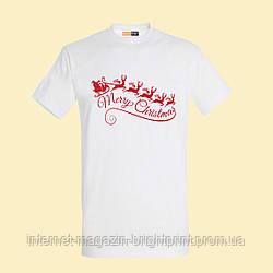 "Чоловіча футболка з принтом ""Merry Christmas"""