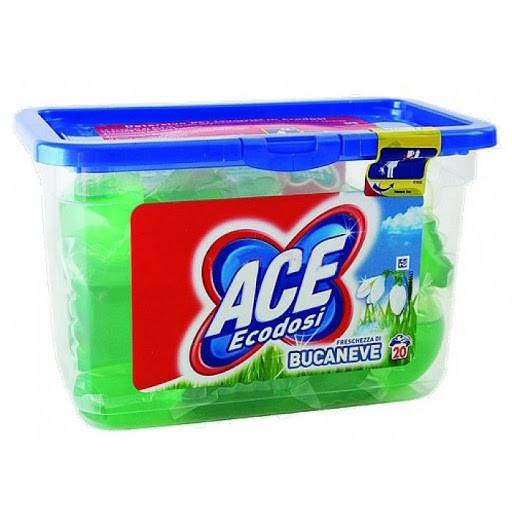 Капсулы экодоз зеленые АСЕ 20шт 20 стирок (повреждённая упаковка)
