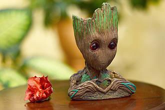 Глиняный цветочный горшок - милый малыш Грут из Стражей Галактики от Marvel с сердечком