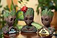 Глиняный цветочный горшок - милый малыш Грут из Стражей Галактики от Marvel с сердечком, фото 6