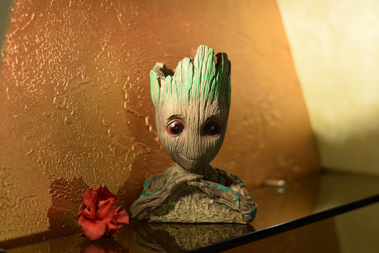 Глиняный цветочный горшок - милый малыш Грут из Стражей Галактики от Marvel без надписи