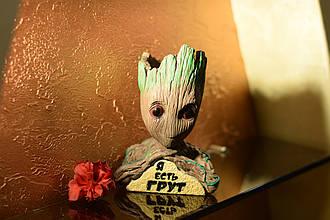 Глиняный цветочный горшок - милый малыш Грут из Стражей Галактики от Marvel Я есть грут