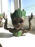 Глиняный цветочный горшок - милый малыш Грут - из Стражей Галактики от Marvel С поднятыми руками