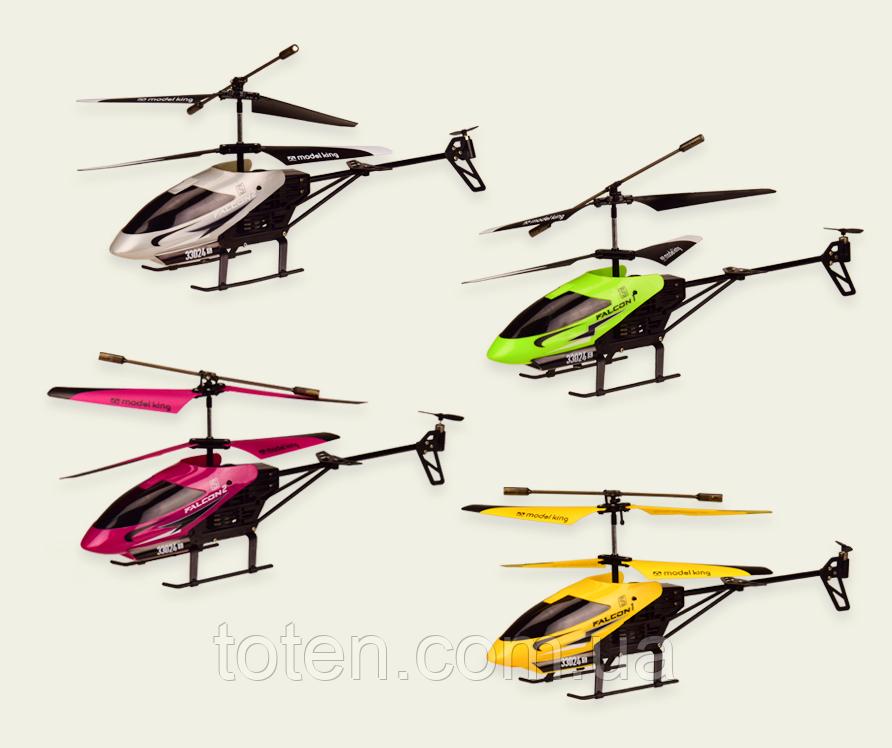 Радіокерований вертоліт 3-х канальний, метал каркас, лист 20м, usb кабель, зарядка в пульті 33008