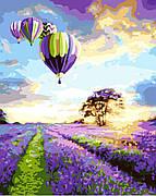 Картина по номерам BrushMe Полет над лавандовым полем 40*50 см (в коробке) арт.BRM8297