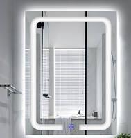Зеркало в ванную с подсветкой 80х65 DE-M3001 Dusel