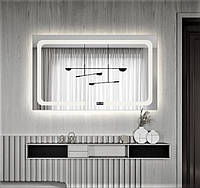 Зеркало - смарт для ванной с подсветкой DE-M3001 Dusel 75х100