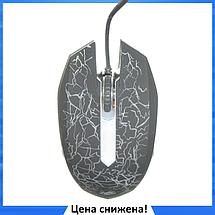 Игровая компьютерная мышь Zeus M-110 - проводная USB мышка с подсветкой Чёрная, фото 2