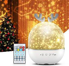 Ночной светильник-проектор с колонкой Cute Elf
