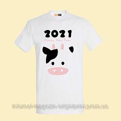 """Чоловіча футболка з принтом """"2021"""""""