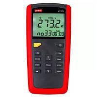 UT-325 цифровой термометр UNI-T позволяет измерять температуру с помощью различных типов термопар