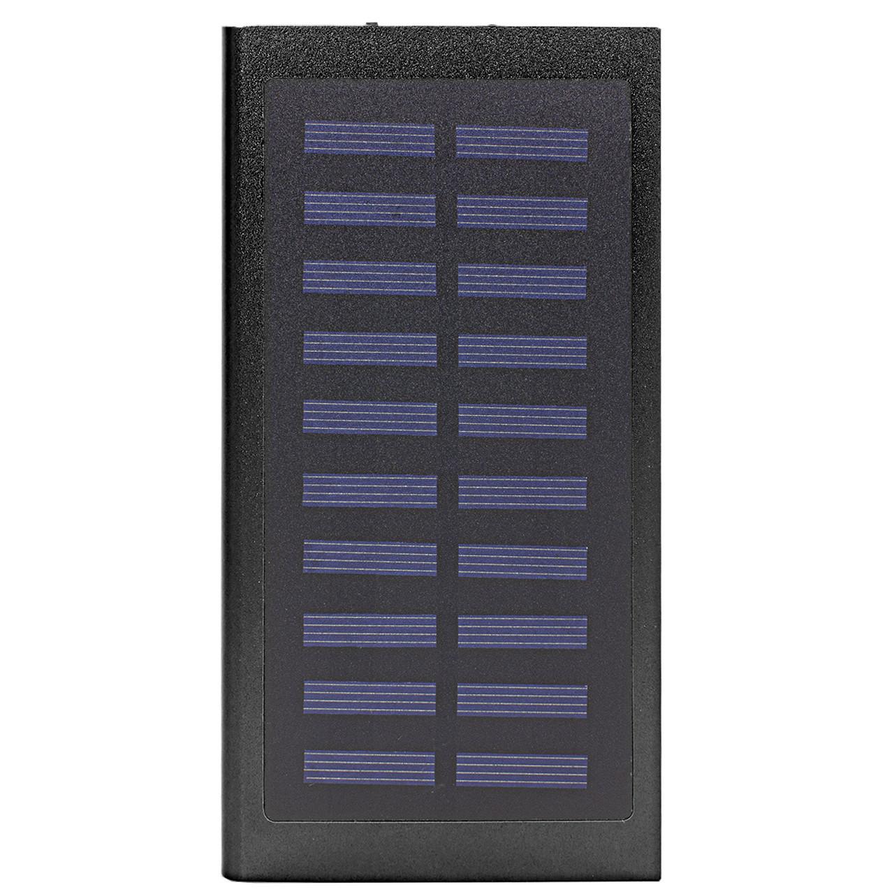 Power bank c солнечной панелью для зарядки Cube 20000 mAh Black (258-10648)