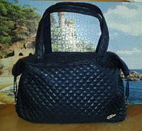 Женская сумка стеганная Fashion.черная синяя, фото 1