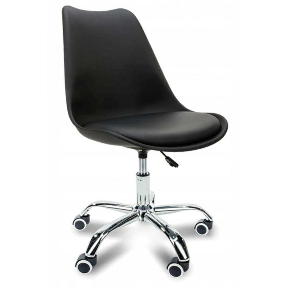 Кресло офисное Bonro B- 487 на колесах чёрное