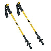 Палиці скандинавські телескопічні трекінгові для скандинавської ходьби ZELART Пара Жовті (TY-0468)