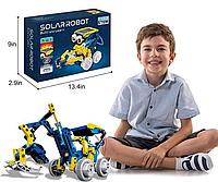 Развивающий конструктор робот Solar Robot Build and Learn с солнечной панелью и моторчиком