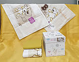Комплект постельного белья в детскую кроватку из ранфорса 100*150 ТМ Aran Clasy FRIENSHIP,, фото 2