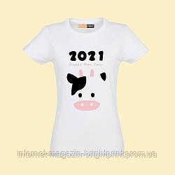 """Жіноча футболка з принтом """"2021"""""""