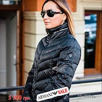 Куртка женская пуховик Emporio Armani EA7 XS длинная черная sale (6GTL04-TN05Z-1200-sale-XS), фото 1