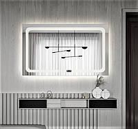 Зеркало - смарт для ванной с подсветкой 65х80 DE-M3001 Dusel с часами
