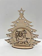 Деревянная ёлка новогодний сувенир