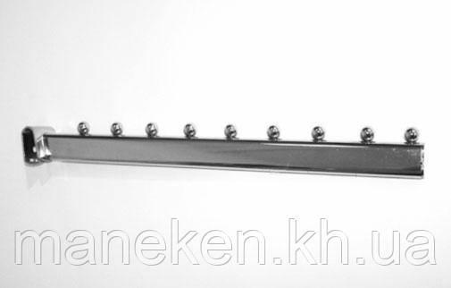 Флейта (кронштейн) с креплением на перекладину (Deka) 40см. Хром, фото 2