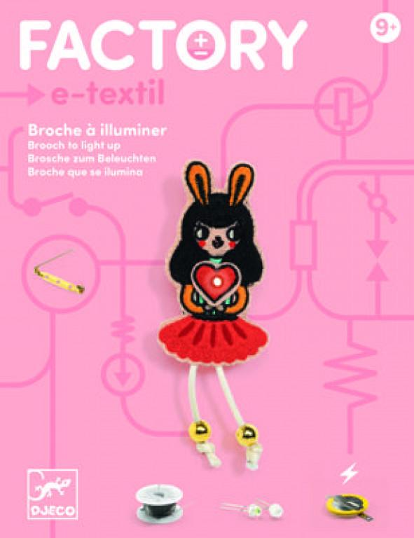 "DJECO Набор для творчества Factory art  ""Брошь Bunny Girl Factory E-text"""